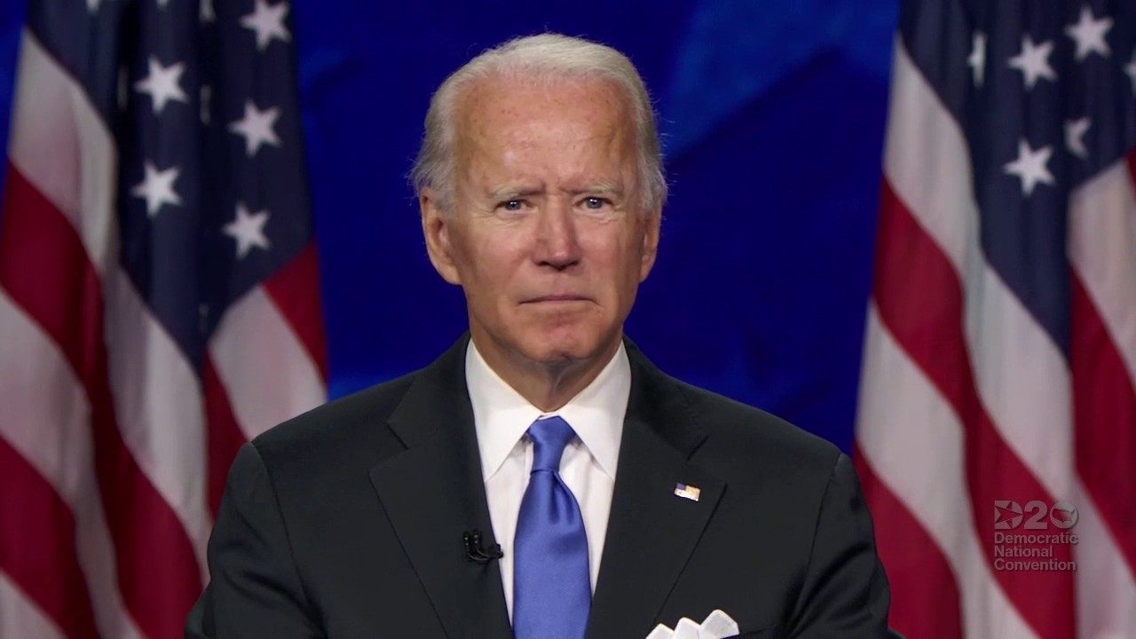 Joe Biden accepts the Democratic Party's nomination for president, pledges to unite and protect America