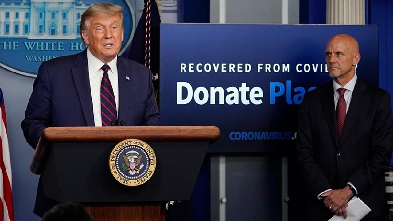 President Trump announces FDA authorization of convalescent plasma treatment for COVID patients