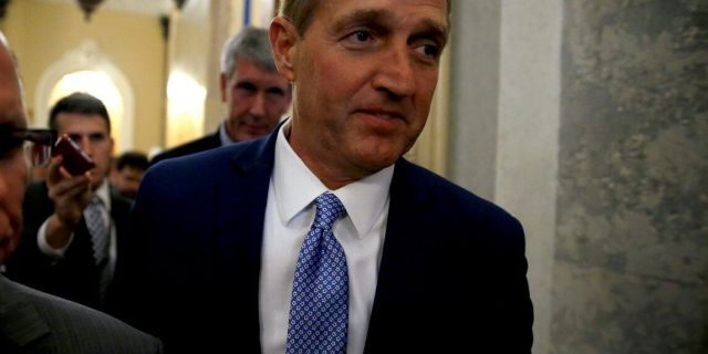 In announcing that he would not run for re-election, Sen. Jeff Flake, R-Ariz., slammed Republicans and President Trump.