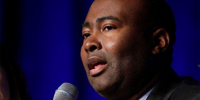 Jaime Harrison speaks during a Democratic National Committee forum in Baltimore, Maryland, U.S., Feb. 11, 2017. (REUTERS/Joshua Roberts)