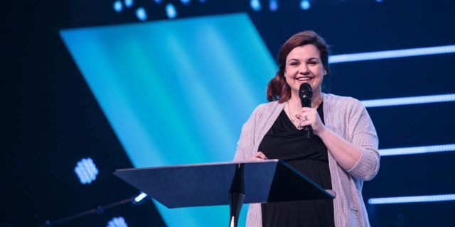 """Abby Johnson, of whom the """"Unplanned"""" is based on, spoke at the """"Life Is Beautiful"""" event at Free Chapel in Gainesville, Georgia."""