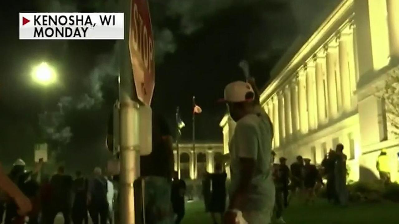 Second night of violent protests erupt in Kenosha, Wisconsin
