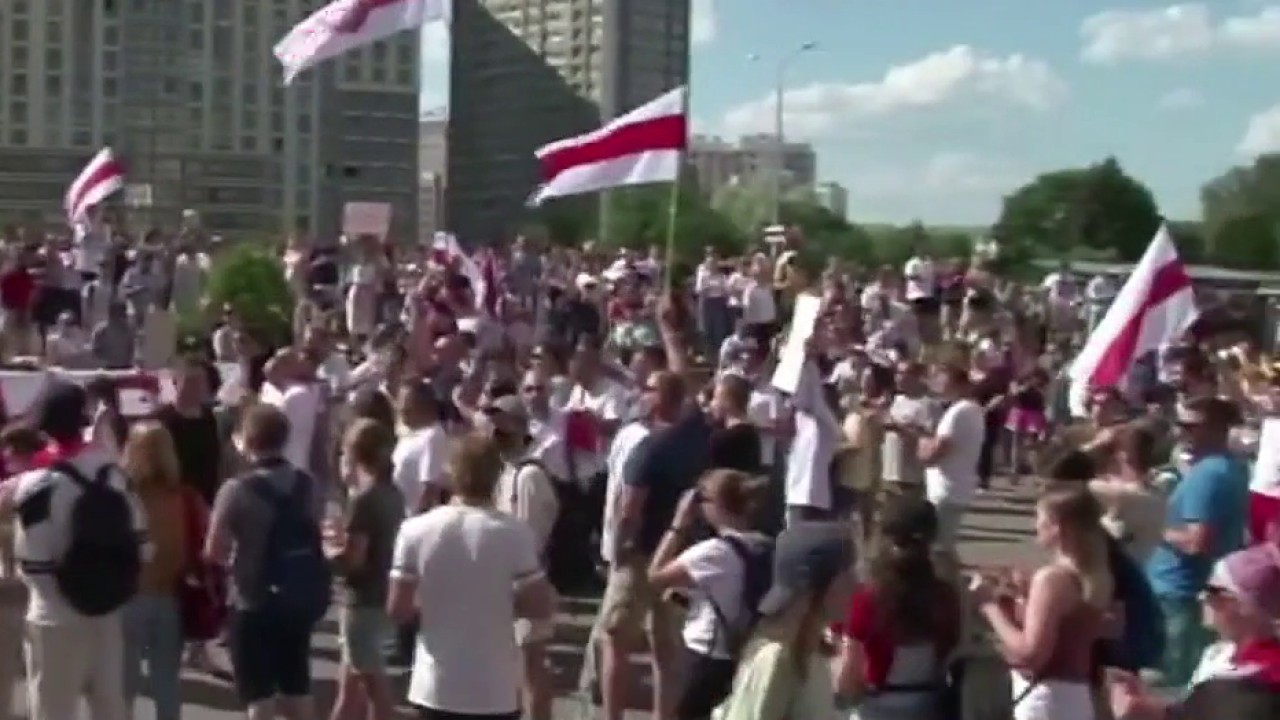 Protests in Belarus over presidential election results