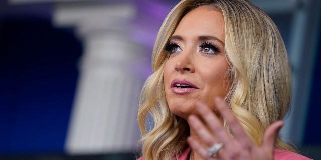 White House press secretary Kayleigh McEnany speaks during a press briefing at the White House, Wednesday, May 20, 2020, in Washington. (AP Photo/Evan Vucci)