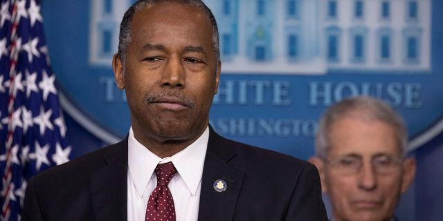 U.S. Housing and Urban Development Secretary Ben Carson speaks during a briefing in the James Brady Press Briefing Room at the White House.