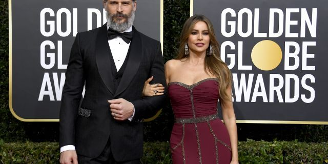 Joe Manganiello and Sofia Vergara arrive to the 77th Annual Golden Globe Awards held at the Beverly Hilton Hotel on January 5, 2020
