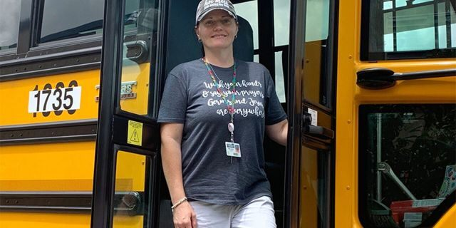 School bus driver Margie Yzaguirre refused to open the doors toMayson Armando Ortiz-Vazquez after he started banging on them.