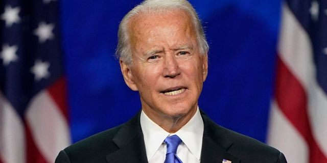 Democratic presidential candidate former Vice President Joe Biden speaks during the fourth day of the Democratic National Convention, Aug. 20, at the Chase Center in Wilmington, Del. (AP Photo/Andrew Harnik)