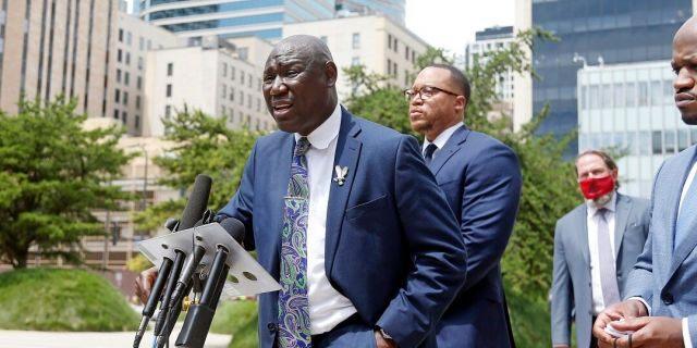 Attorney Ben Crump speaks July 15, 2020 in Minneapolis. (AP Photo/Jim Mone)