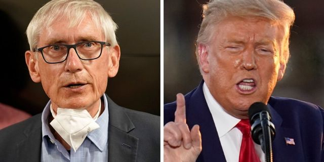 Wisconsin Gov. Tony Evers, a Democrat, asked President Trump to reconsider traveling on Tuesday to Kenosha, Wis., the scene of recent protests against police brutality, in a letter Sunday. (AP)