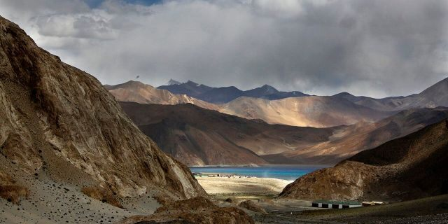 In this Sept. 14, 2017, file photo, Pangong Tso lake is seen near the India China border in India's Ladakh area. (AP Photo/Manish Swarup, file)