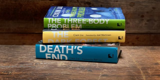 'The Three-Body Problem' trilogy of novels by Chinese author Liu Cixin.