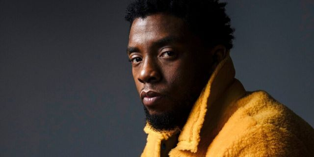 """In this 2018 photo, actor Chadwick Boseman poses for a portrait in New York to promote his film, """"Black Panther."""" Boseman, who played Black icons Jackie Robinson and James Brown before finding fame as the Black Panther in the Marvel cinematic universe, died of cancer at age 43 on Aug. 28, his representative said. (Photo by Victoria Will/Invision/AP, File)"""