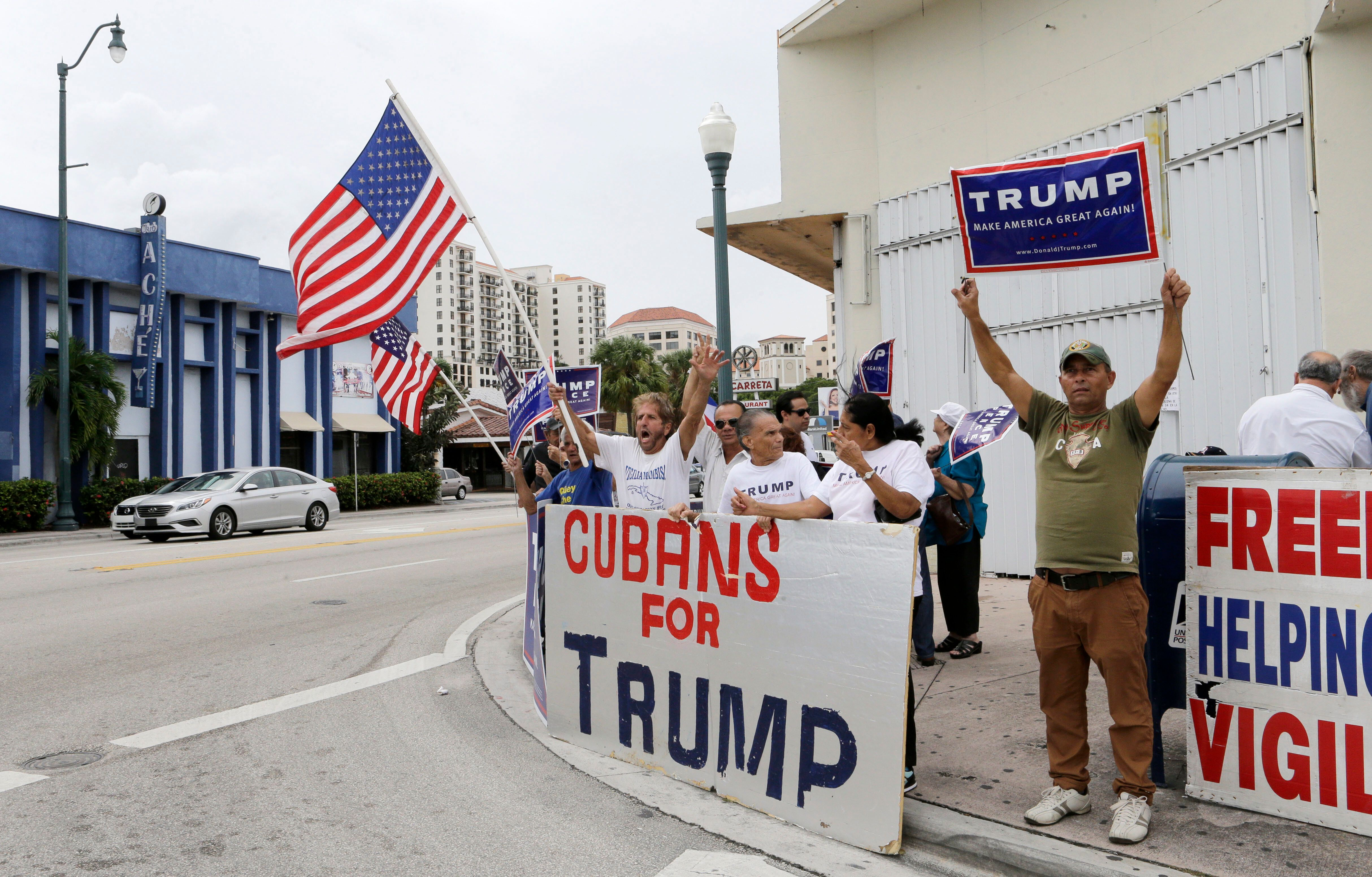 Trump lost Florida Latinos overall in 2016, but won 54% of Cuban American voters.