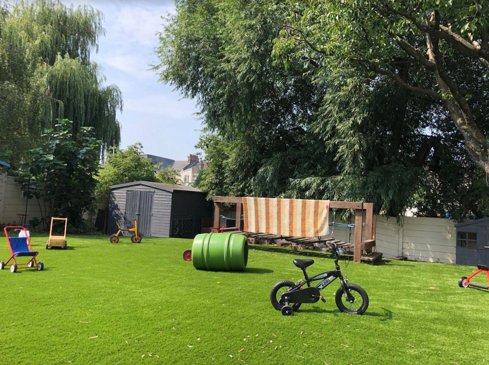 The garden area at Eastbury Nursery.