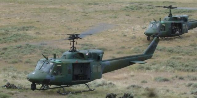 The UH-1N is a light-lift utility helicopter used to support various missions. The primary missions include: airlift of emergency security forces, security and surveillance of off-base nuclear weapons convoys, and distinguished visitor airlift. Air Force