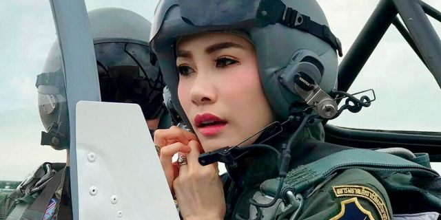 Sineenatra was previously an army nurse before her relationship with Vajiralongkorn.(Thailand Royal Office via AP, File)