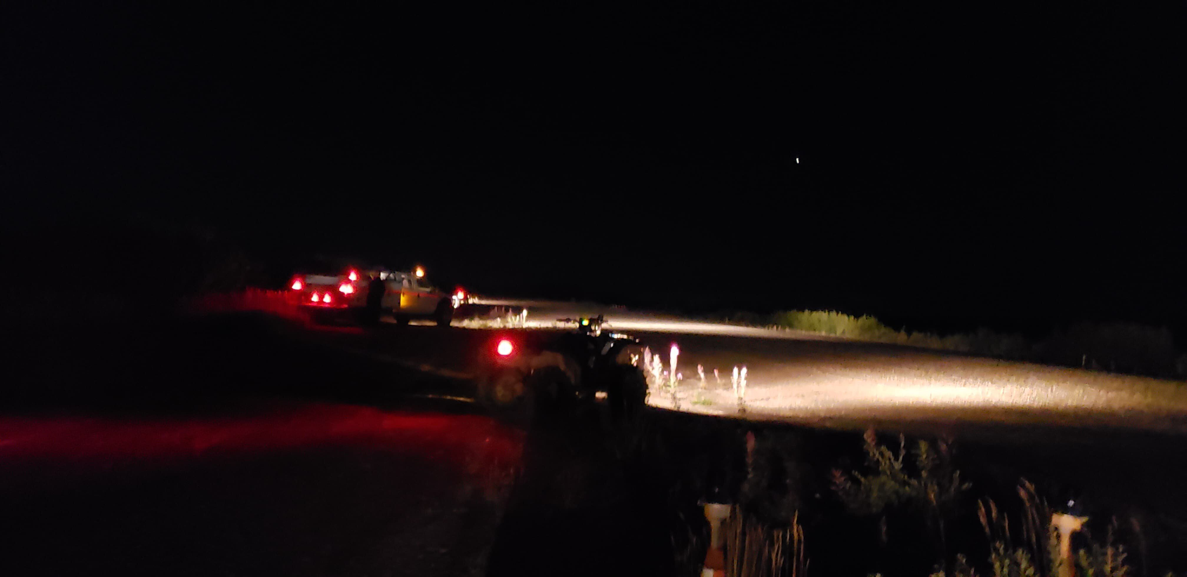 Residents of Igiugig lit up the runway of the village's small airport with their vehicles, enabling a medical assistance plan