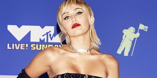 Miley Cyrus attends the 2020 MTV Video Music Awards, broadcast on Sunday, August 30, 2020 in New York City. (Photo by Vijat Mohindra/MTV VMAs 2020/Vijat Mohindra/MTV VMAs 2020 via Getty Images)