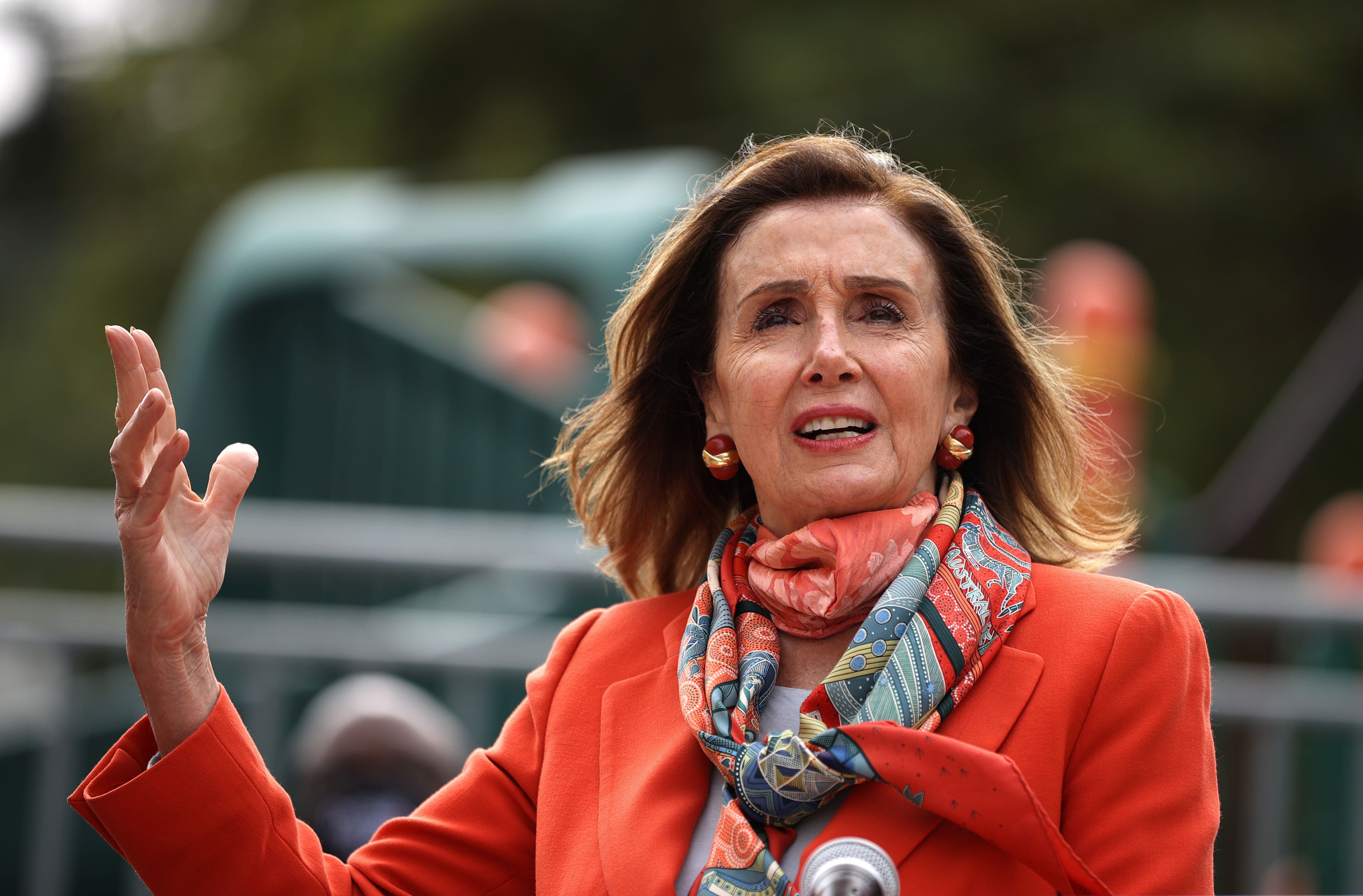 House Speaker Nancy Pelosi (D-Calif.) addressed the hair salon controversy during an event at a San Francisco school Wednesda