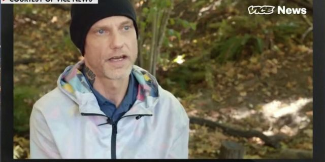 Michael Reinoehl is seen in a screen capture from an interview posted on the Vice website.