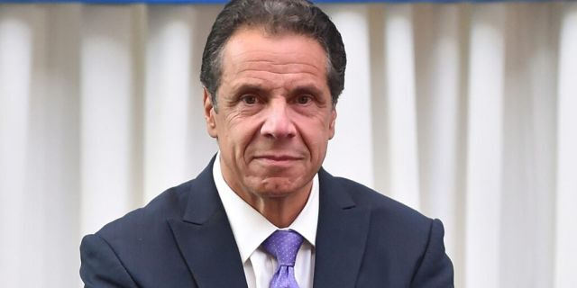 New York Governor Andrew Cuomo appears at a press conference to celebrate Billy Joel's 100th lifetime concert at Madison Square Garden on Wednesday, July 18, 2018 in New York. (Photo by Evan Agostini/Invision/AP)
