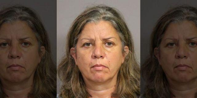Rima Abikaram, 50, of Fullerton, Calif., was arrested on suspicion of elder abuse, authorities say. (Costa Mesa Police)