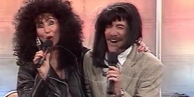 """Geraldo Rivera, seen here with Cher, said he was """"he first rock and roll newsman."""""""