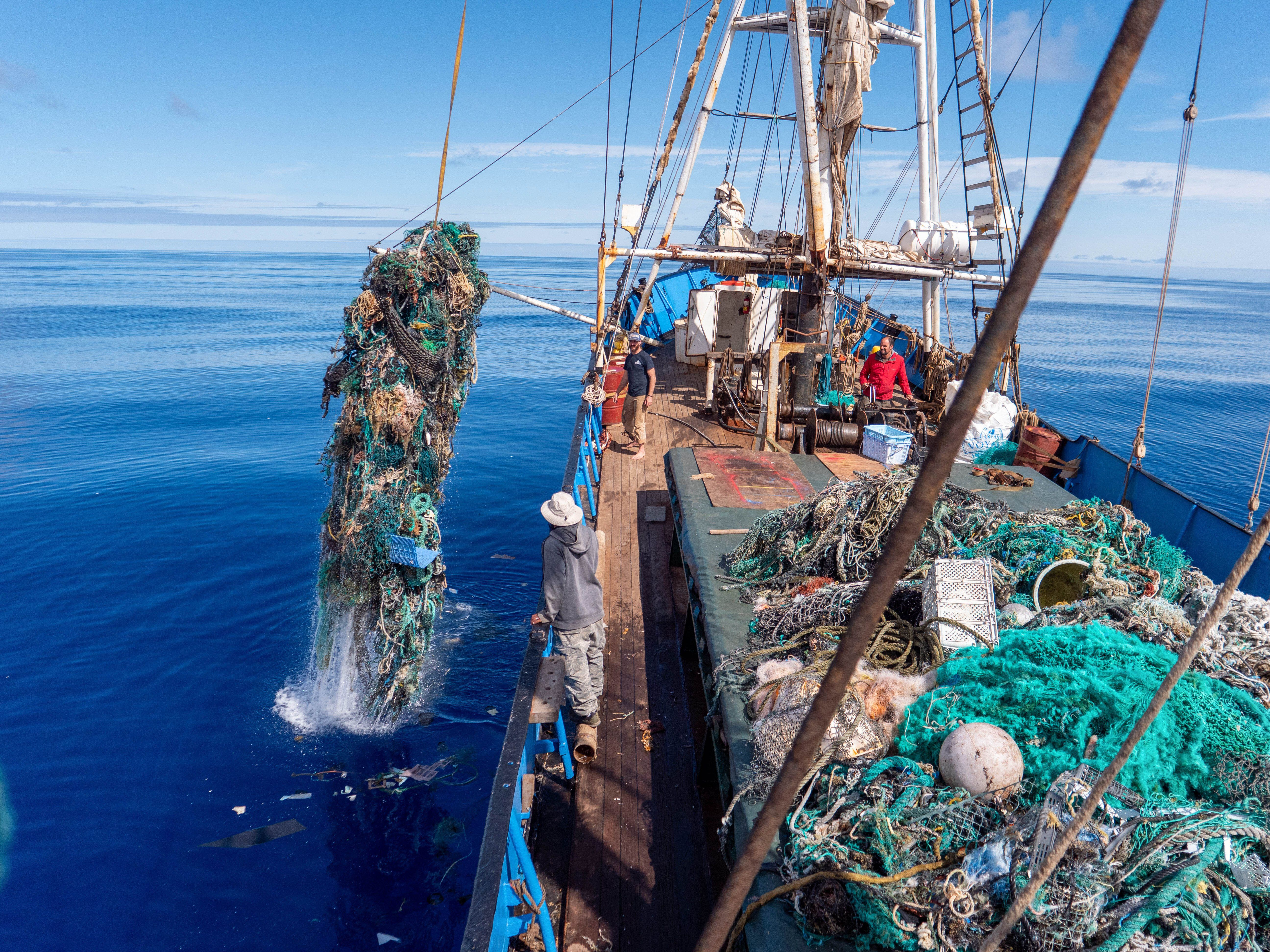 No one knows exactly how much plastic waste is floating in the Pacific Ocean.