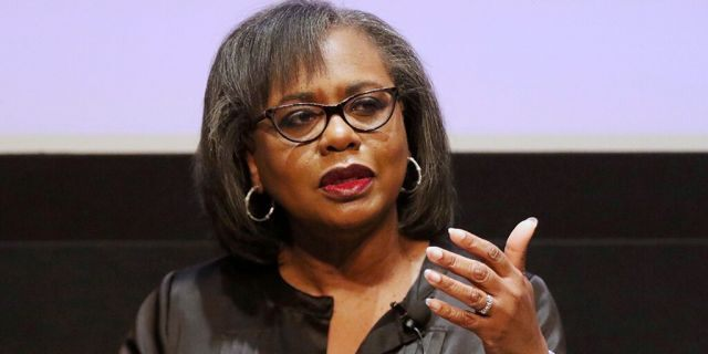 In this Dec. 8, 2017, file photo Anita Hill speaks at a discussion about sexual harassment and how to create lasting change from the scandal roiling Hollywood at United Talent Agency in Beverly Hills, Calif. Photo by Willy Sanjuan/Invision/AP, File)