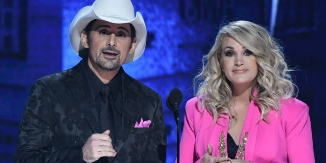 """Brad Paisley and Carrie Underwood at """"The 52nd Annual CMA Awards"""" in 2018. (Image Group LA/Walt Disney Television via Getty Images)"""