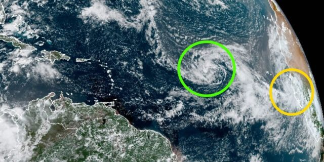 Two tropical depressions out over the Atlantic Ocean are forecast to become tropical storms on Monday.