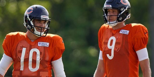 The Bears acquired Super Bowl 52 MVP Nick Foles to compete with former No. 2 draft pick Mitchell Trubisky for the starting quarterback job, one of several moves to shake up an offense that ranked among the NFL's worst last season. (AP Photo/Nam Y. Huh, File)