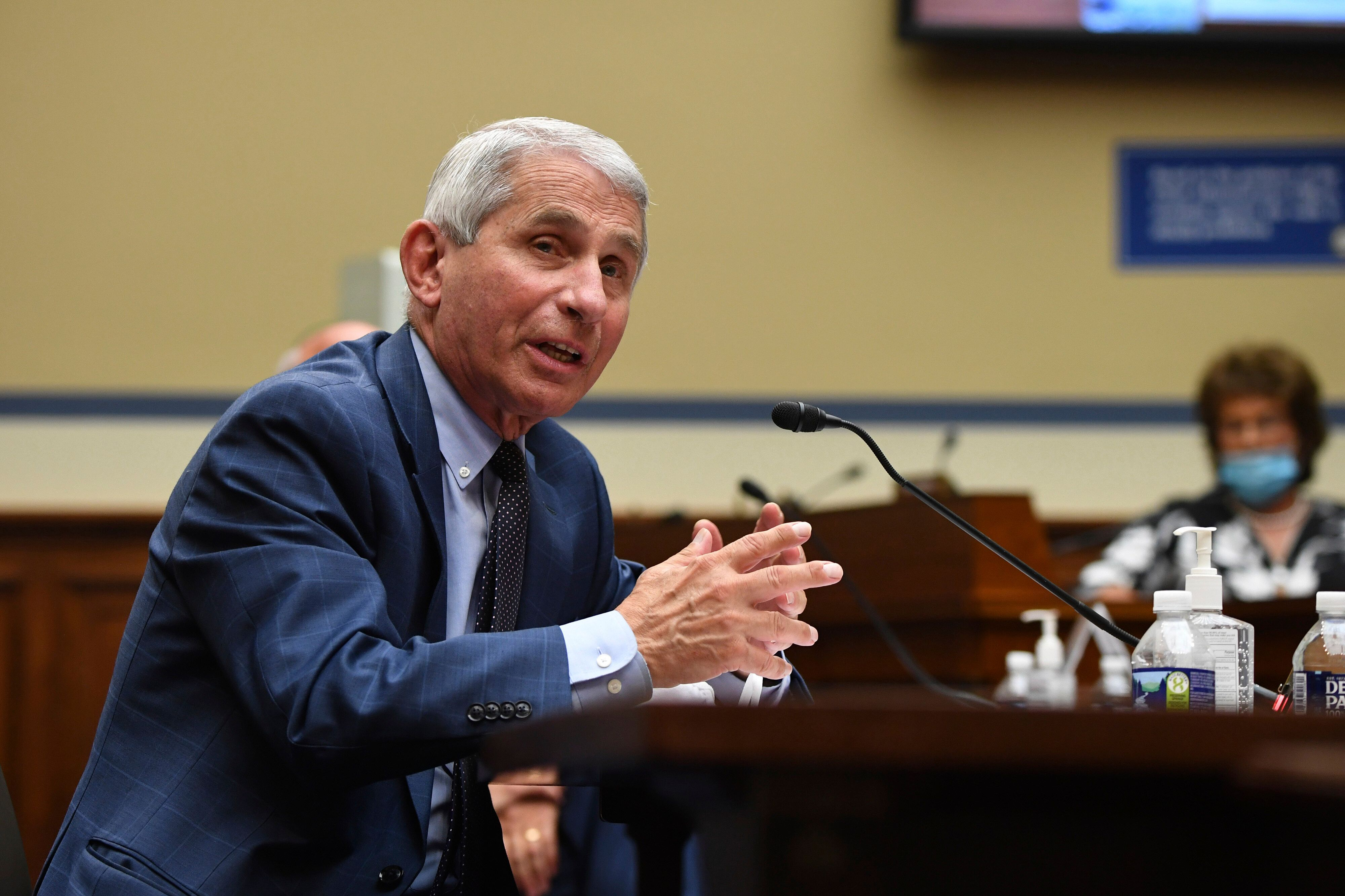 Dr. Anthony Fauci, seen in July, saidthat AstraZeneca's decision to pause global trials of its experimental coron