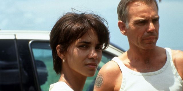 Halle Berry and Billy Bob Thornton in a scene from the film 'Monster's Ball.' (Getty Images)