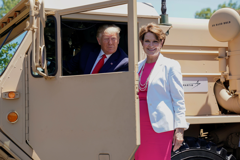 Trump has grown close to Lockheed Martin CEO Marillyn Hewson.