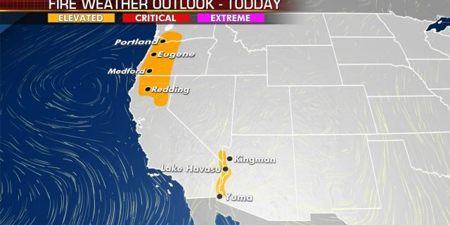 The fire weather outlook for Thursday, Sept. 10, 2020.