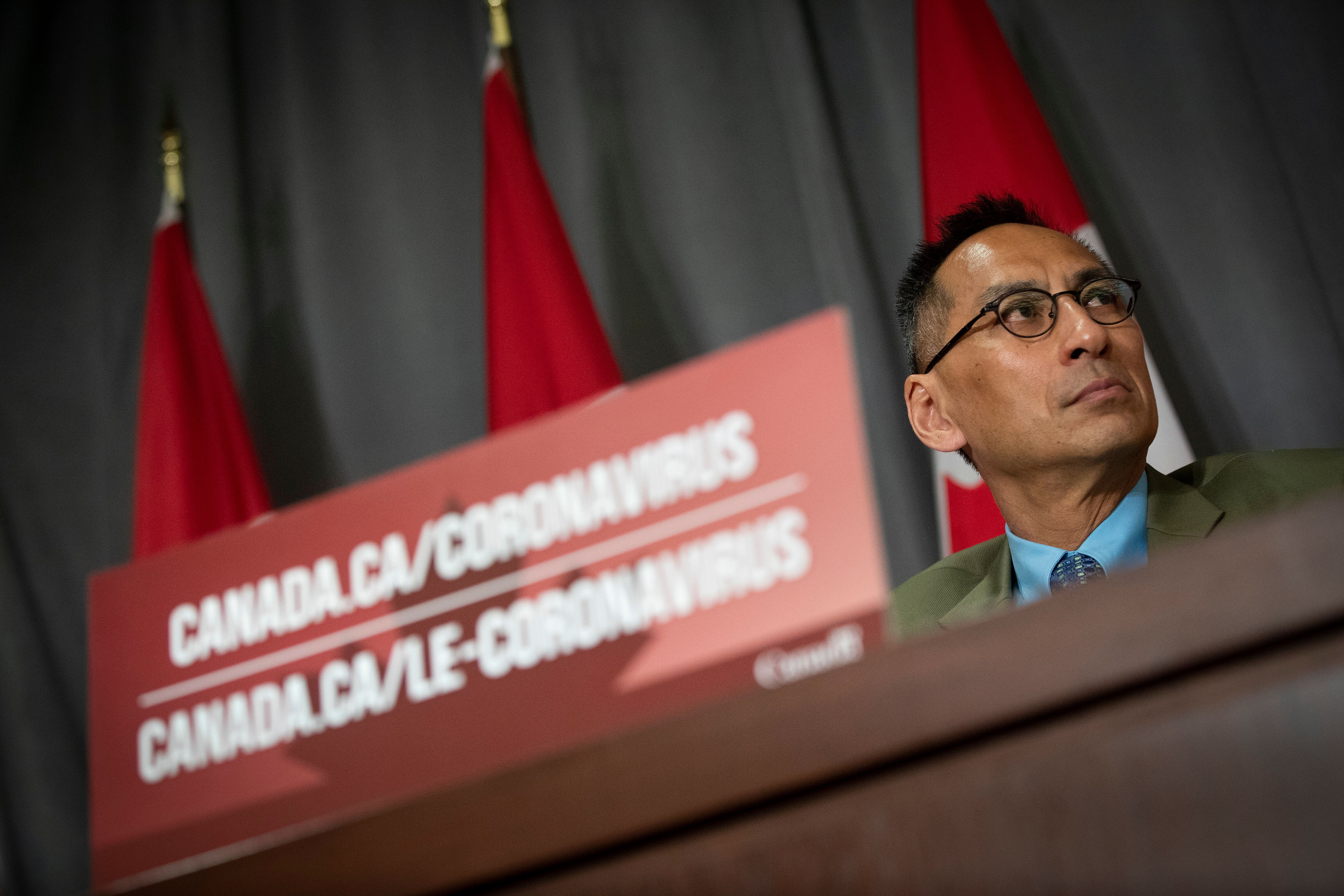 Deputy Chief Public Health Officer Dr. Howard Njoo during a Government of Canada briefing on the coronavirus on Parliament Hi