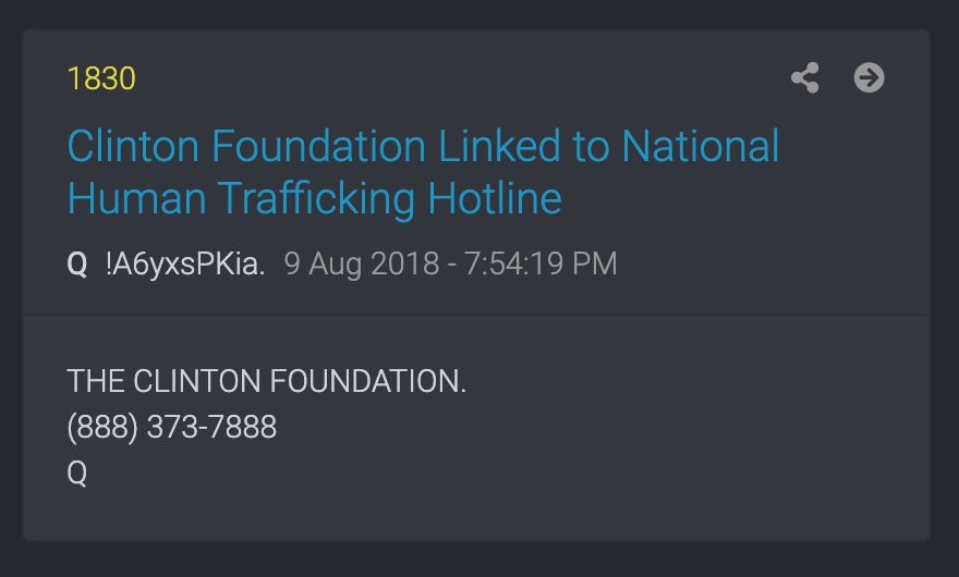 QAnon has inserted anti-trafficking organizations into its conspiracy theories.