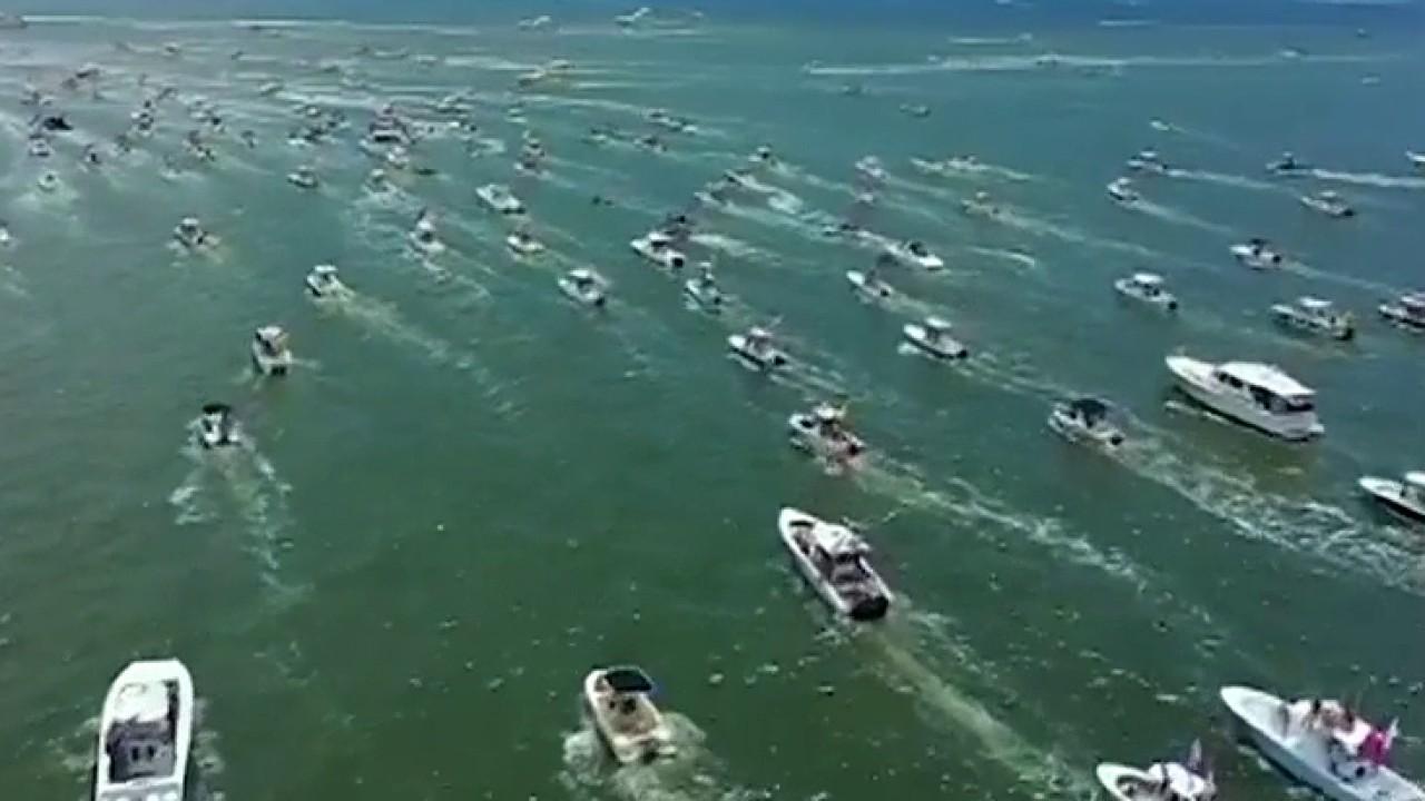 Hundreds of boaters hold 'MAGA' parade in South Carolina