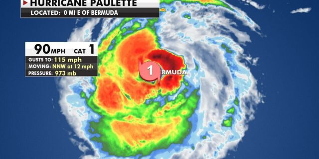 Hurricane Paulette is a Category 1 storm as it's over Bermuda.