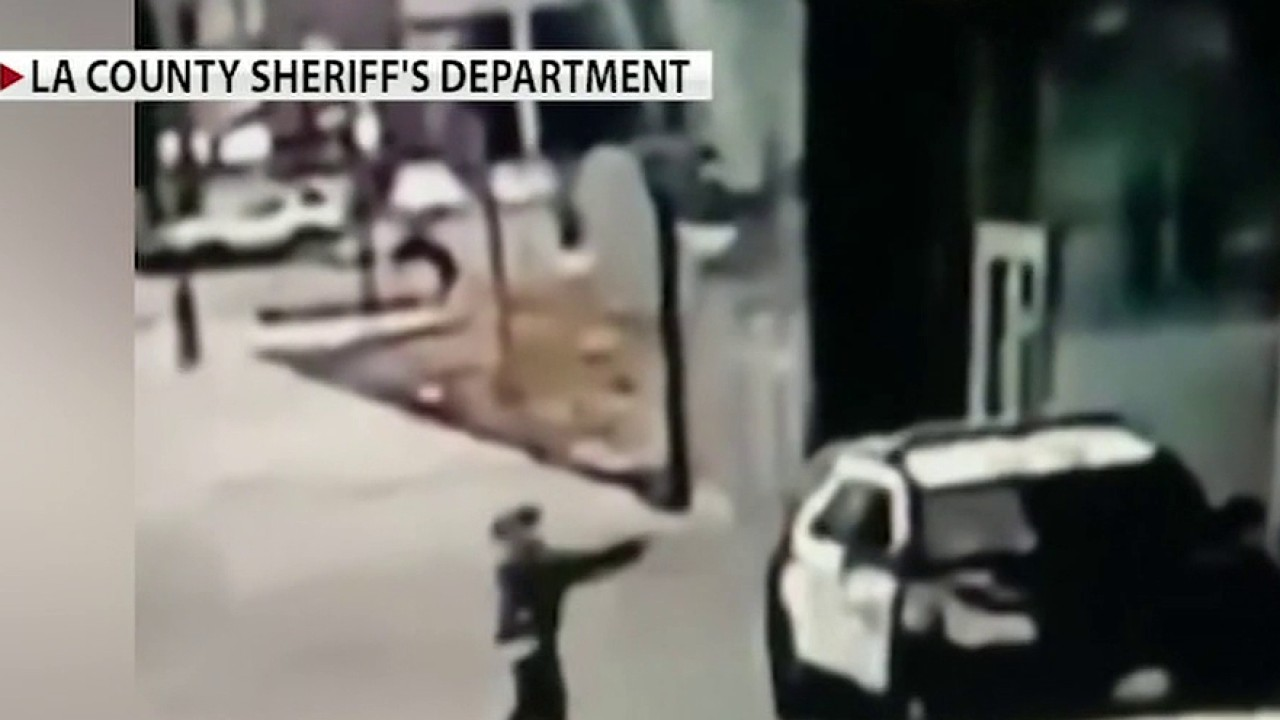 Los Angeles sheriff's deputies fight for their lives after ambush