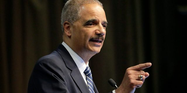 Former U.S. Attorney General Eric Holder, Jr. speaks during the National Action Network Convention in New York, April 3, 2019.