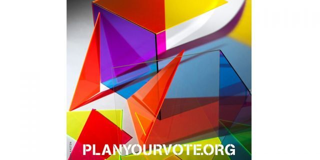 Vote.org has started a nonpartisan initiative to encourage voter participation in America with original posters from 60 art stars. (Plan Your Vote)
