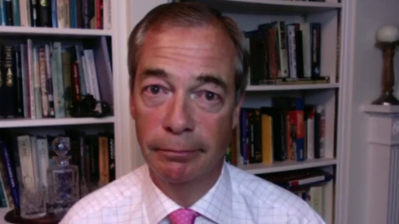 Nigel Farage says the left is trying to silence free speech