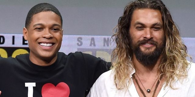 Ray Fisher and Jason Momoa at the Warner Bros. Pictures Presentation during Comic-Con International 2017 in San Diego. Momoa has voiced support for Fisher after he claimed filmmaker Joss Whedon was 'abusive' and 'unprofessional' on set. (Photo by Kevin Winter/Getty Images)
