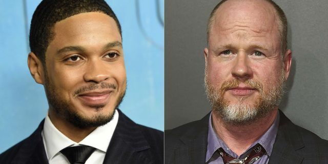 Ray Fisher (left) and Joss Whedon. (Photo by Jordan Strauss/Invision/AP)
