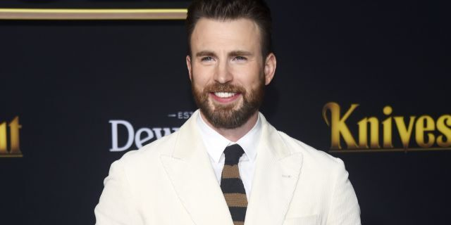 Chris Evans arrives at the premiere of Lionsgate's 'Knives Out' at the Regency Village Theatre on November 14, 2019 in Westwood, California. (Photo by Amanda Edwards/WireImage,)