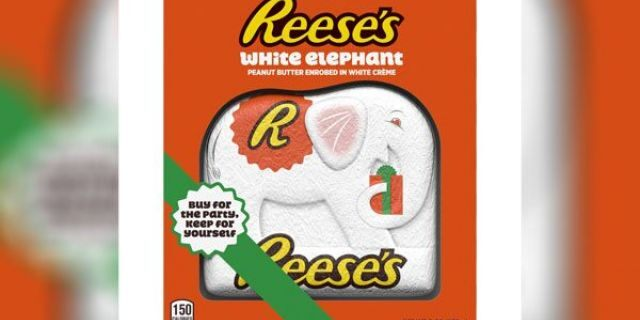 Hershey will be releasing a white elephant-shaped Reese's candy, inspired by the Christmas gift tradition.