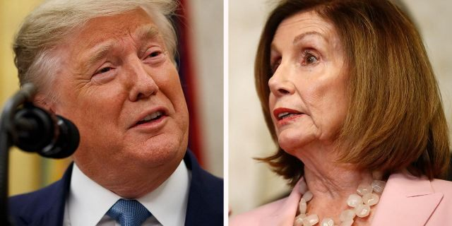 "President Trump has referred to House Speaker Nancy Pelosi as ""Crazy Nancy."""